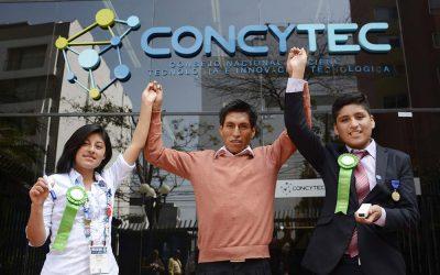 Concytec presento a estudiantes premiados en feria mundial de ciencias Intel ISEF realizada en Estados Unidos
