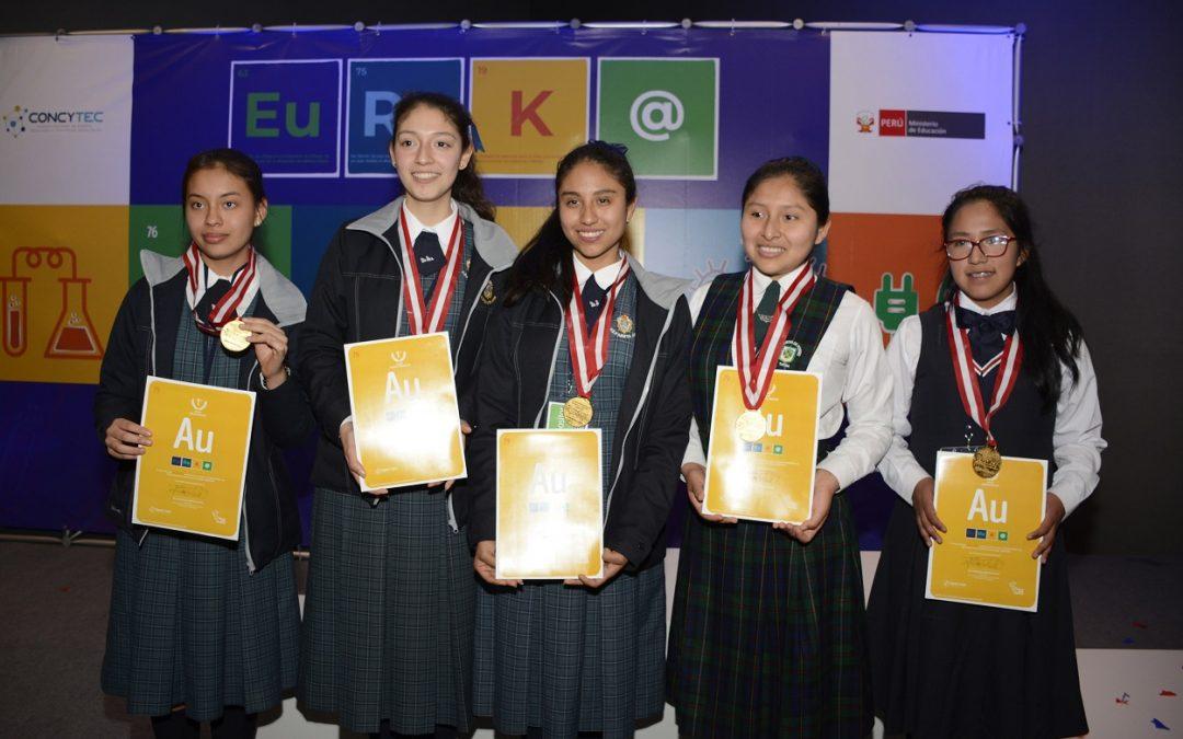 Estudiantes de Tacna y Huánuco obtienen primeros lugares en feria escolar EUREKA! 2019